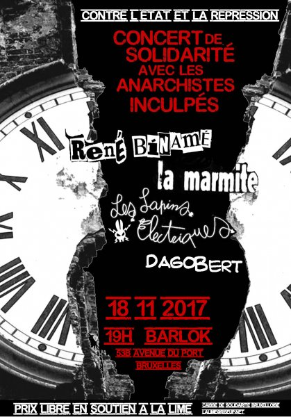 Concert de solidarité avec les anarchistes inculpés