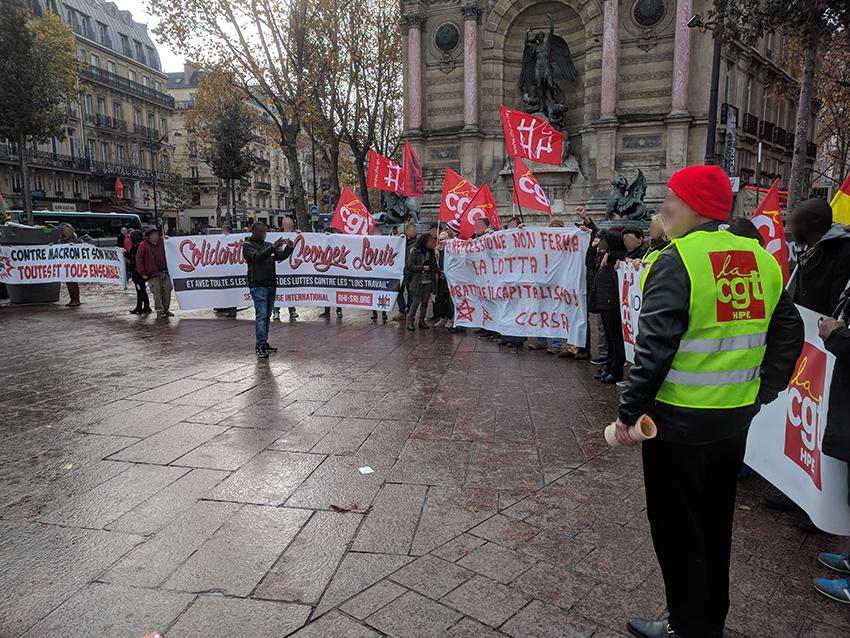 Au rassemblement à Paris en novembre 2017.