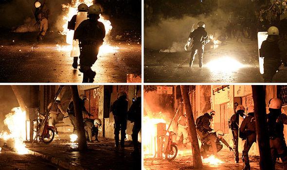 Les affrontements de vendredi soir à Athènes