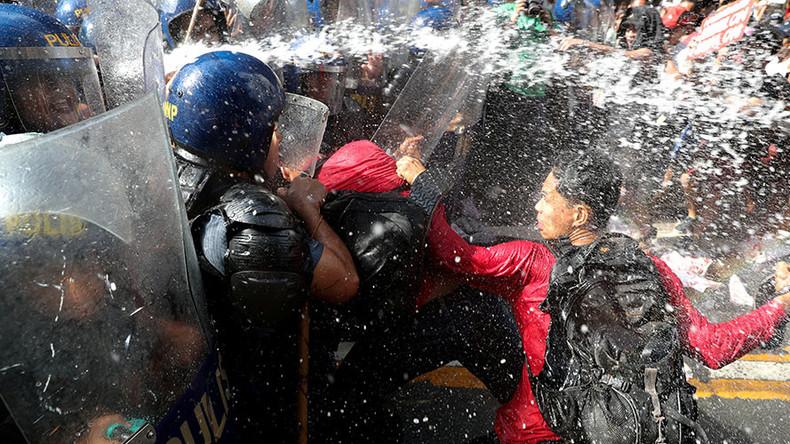 Les affrontements à Manille