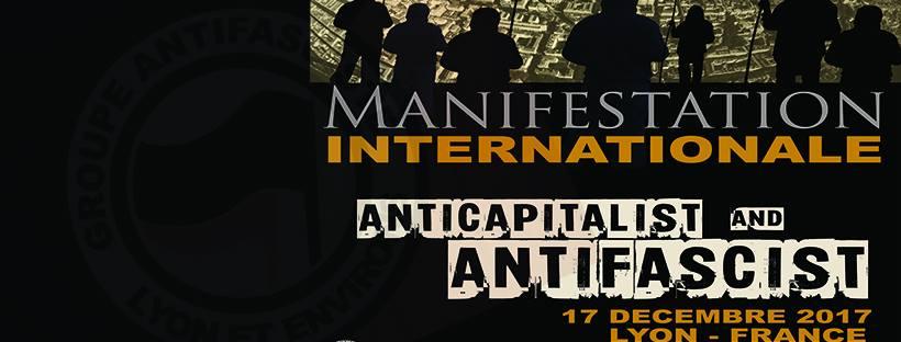 Manif antifa internationale à Lyon