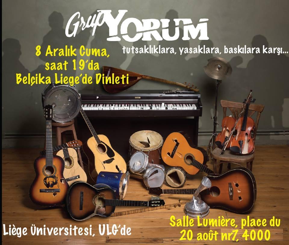 Concert Grup Yorum en solidarité avec Erdal Gokoglu