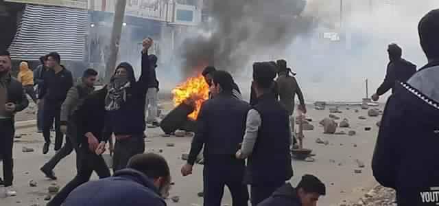 Scène d'émeute au Kurdistan irakien