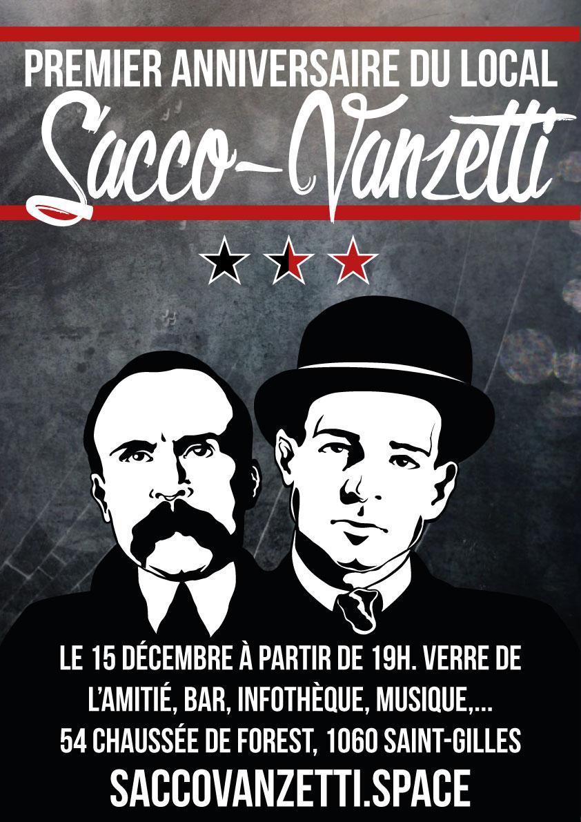 Premier anniversaire du Local Sacco-Vanzetti