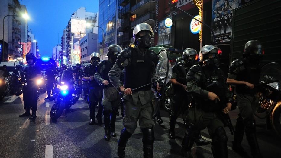 L'intervention des gendarmes à Buenos Aires