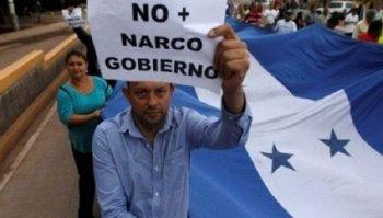 Manifestation de l'opposition au Honduras