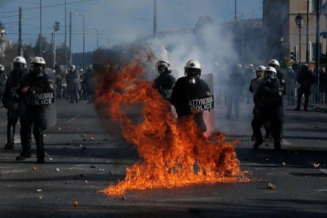 Les affrontements de ce jeudi à Athènes