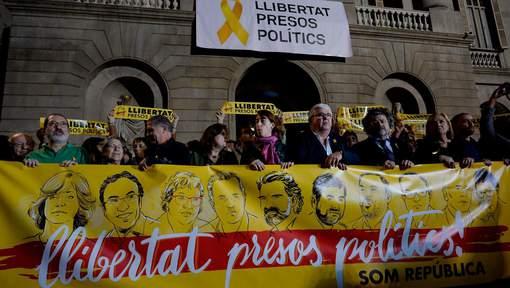 Rassemblement pour les prisonniers politiques indépendantistes catalans