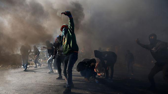 Manifestants à Ramallah ce vendredi