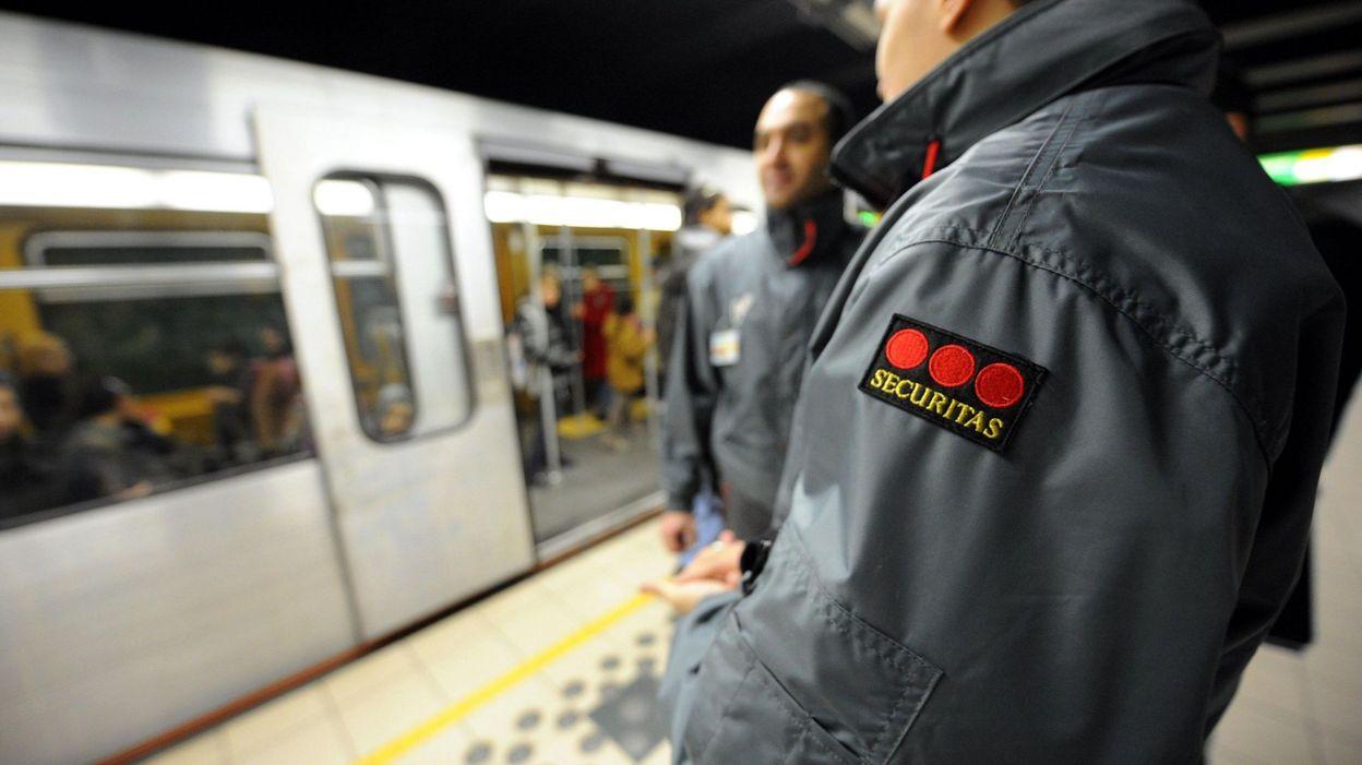 Les vigiles de Securitas dans le métro bruxellois