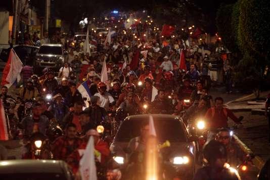 Manifestation de l'opposition vendredi à Tegucigalpa, la capitale du Honduras