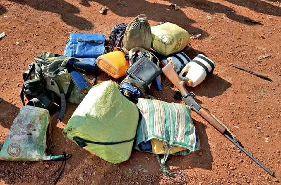 Saisie dans un campement maoïste