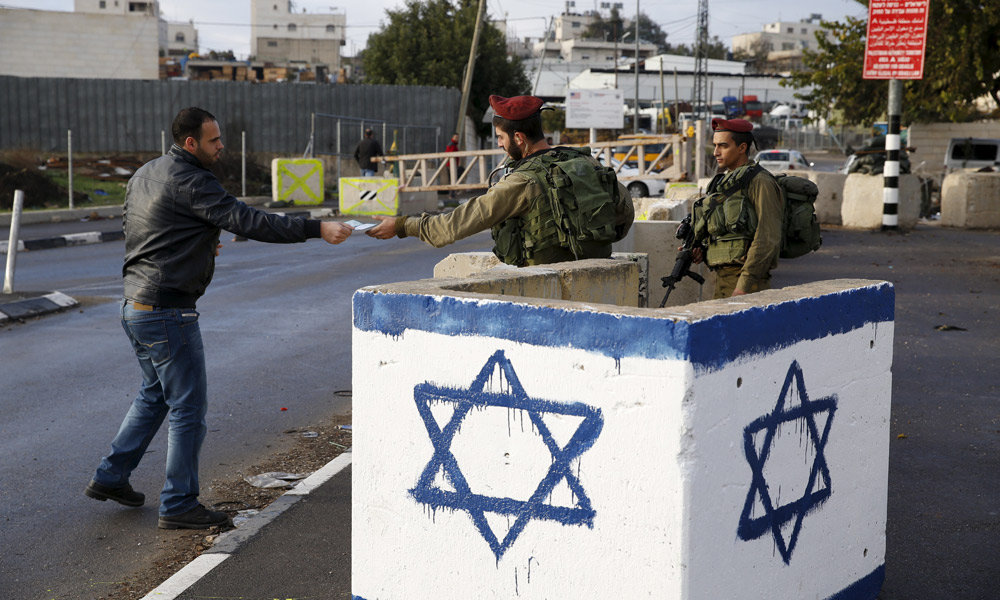 Check-point israélien à Beit Einun