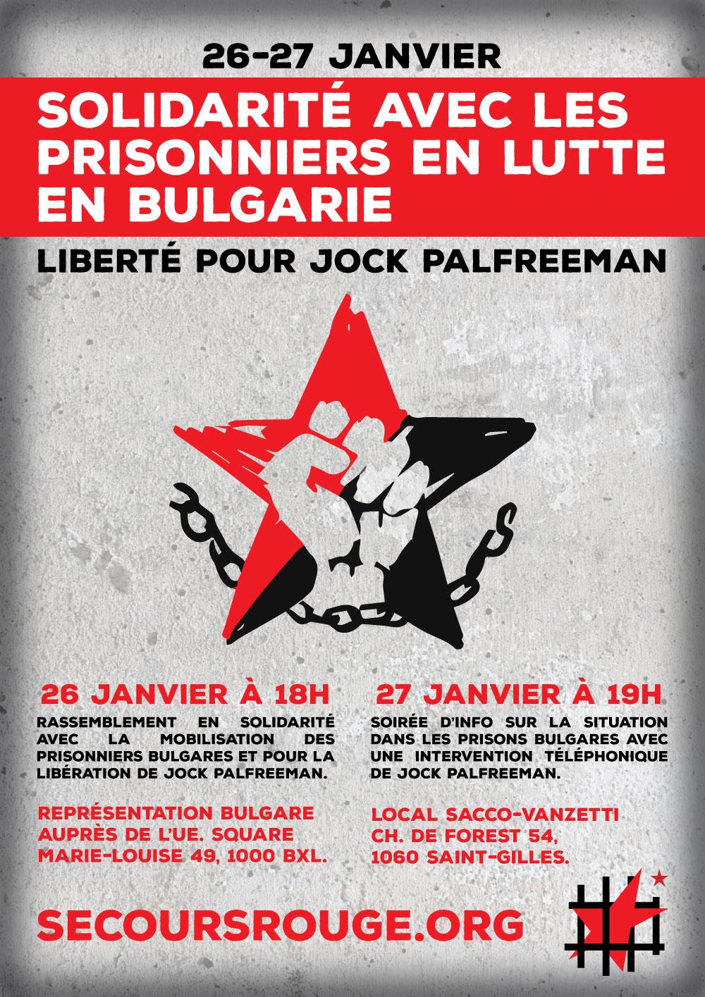 Solidarité avec les prisonniers en lutte en Bulgarie !