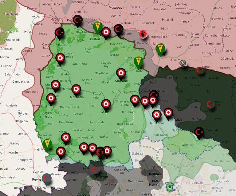Situation à Afrin le 21 janvier.