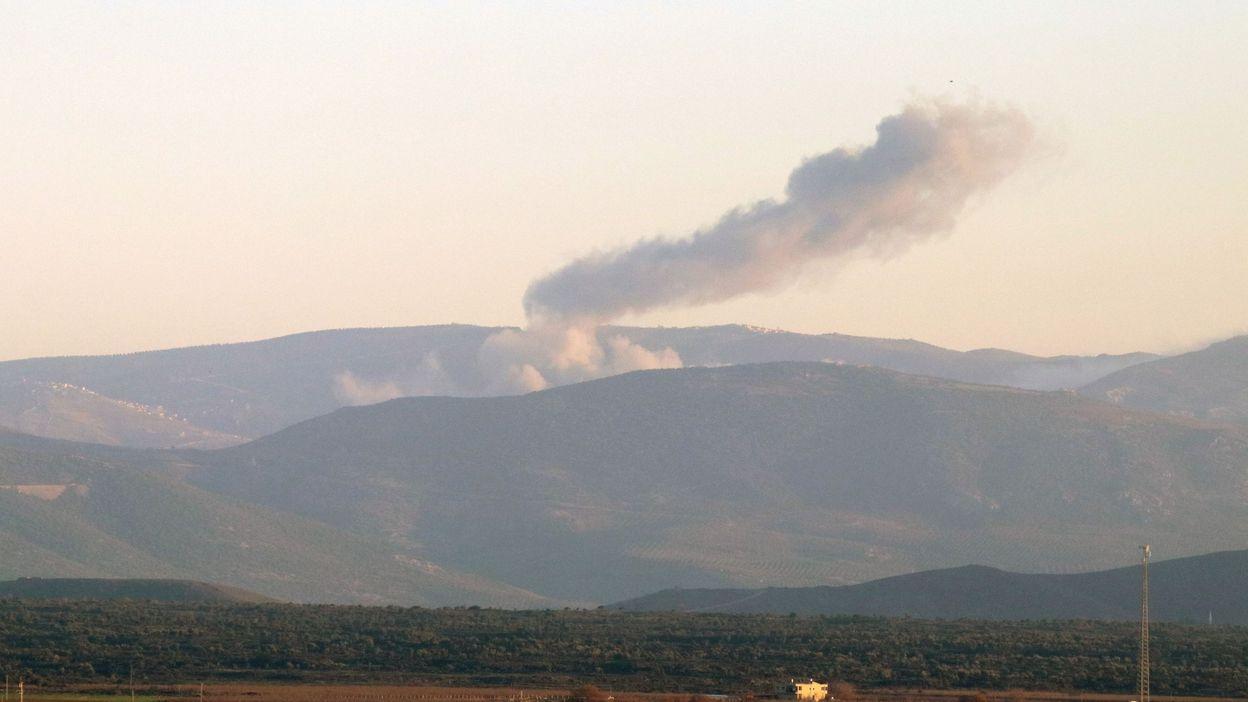 Bombardement turcs à Afrine