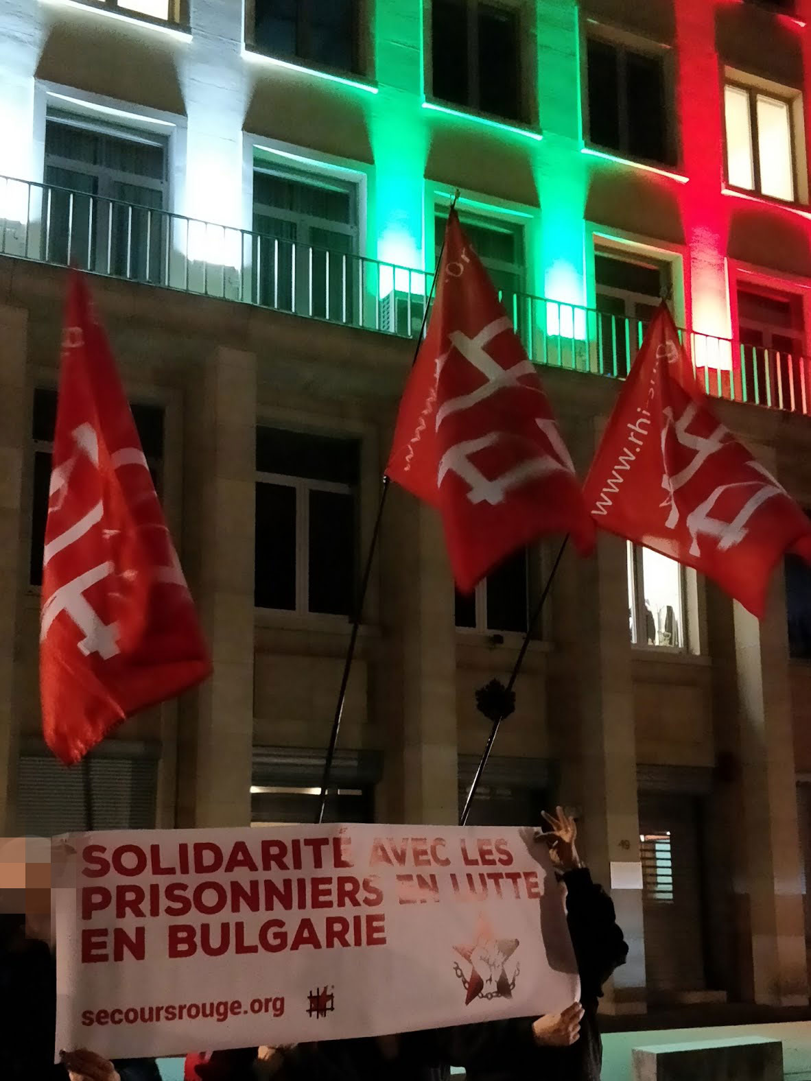 Rassemblement de solidarité avec la BPRA à Bruxelles