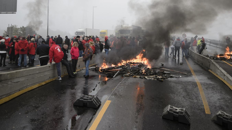 Le blocage du viaduc de Cheratte