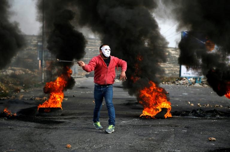 Manifestant en Cisjordanie