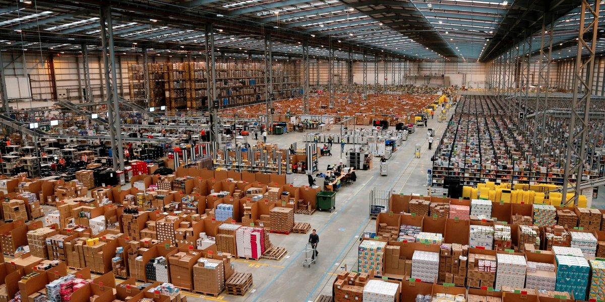 Un dépôt d'Amazon