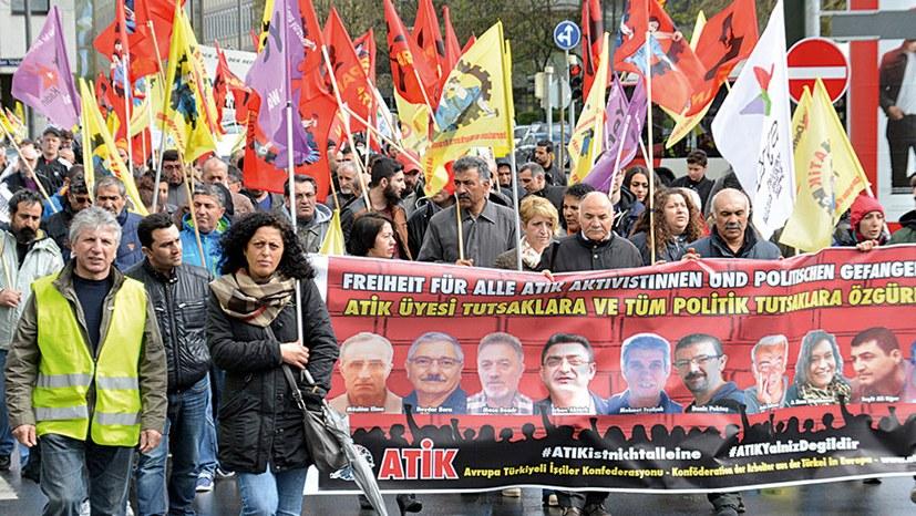 Manifestation de solidarité aux inculpés du procès ATIK à Munich (archive)