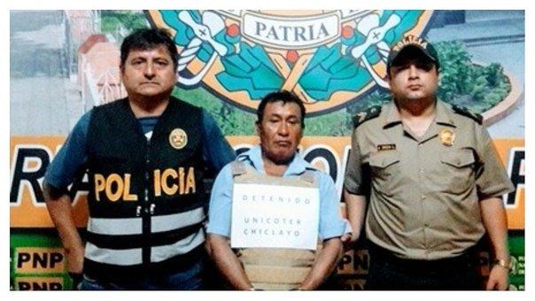 Fidencio Tiquillahuanca Cristanto à son arrestation