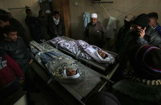 Les dépouilles de deux tués à Gaza