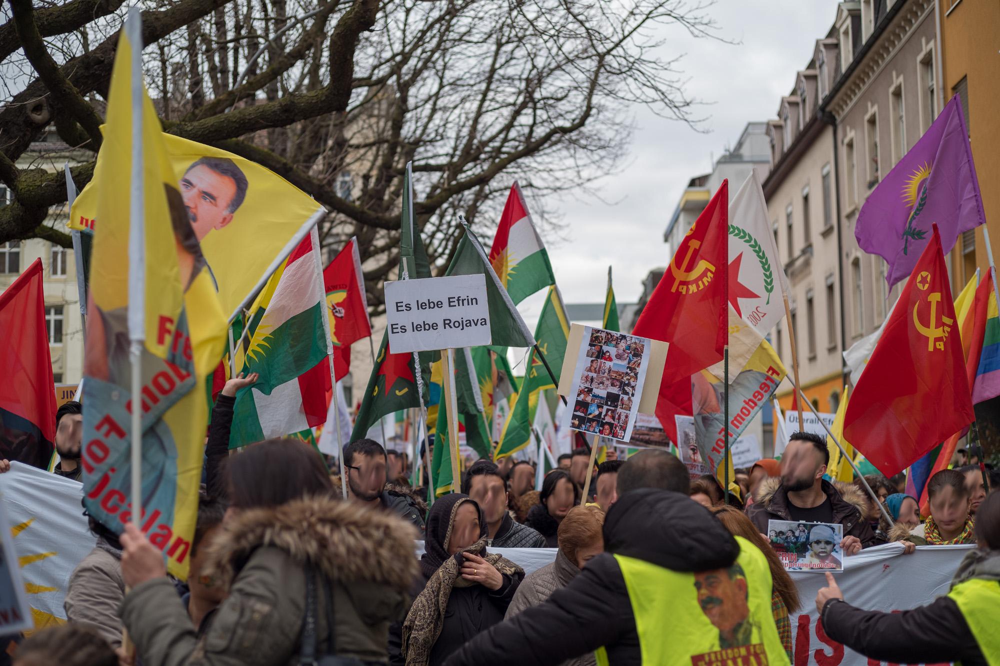 Manifestation pour Afrin à Bâle