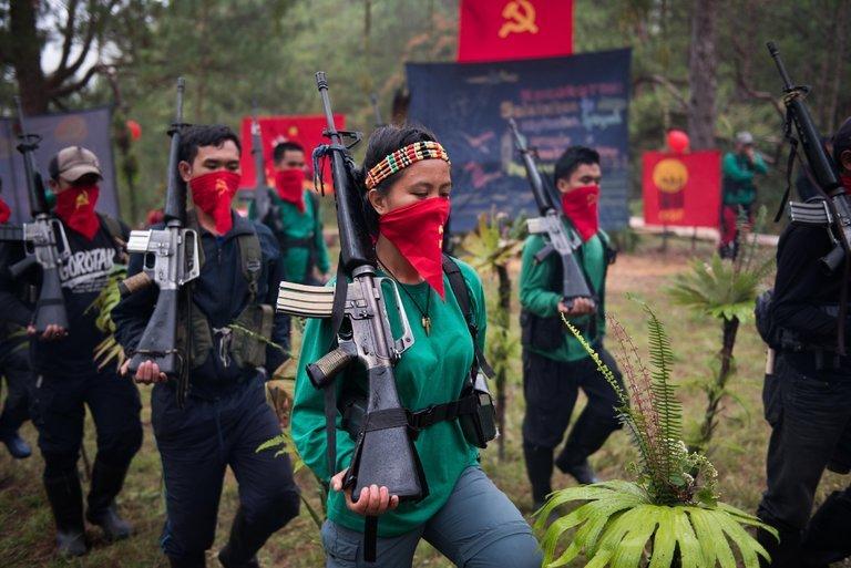 Membres de la guérilla maoïste (archive)