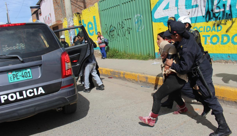 Arrestation lors d'une manifestation de paysans