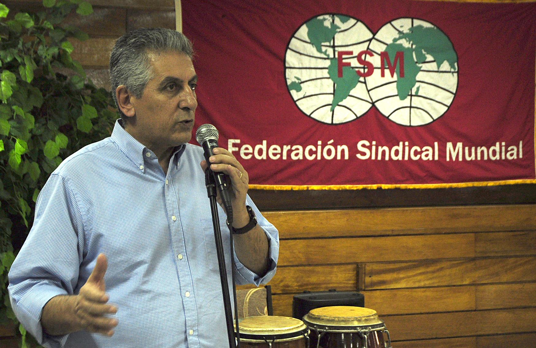 George Mavrikos, Secrétaire Général de la Fédération Syndicale Mondiale