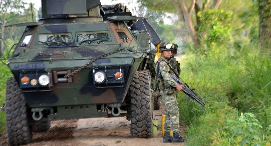 Militaires colombiens en déploiement de contre-guérilla (archive)