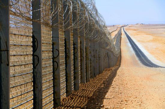 La clôture israélienne isolant la bande de Gaza du reste de la Palestine