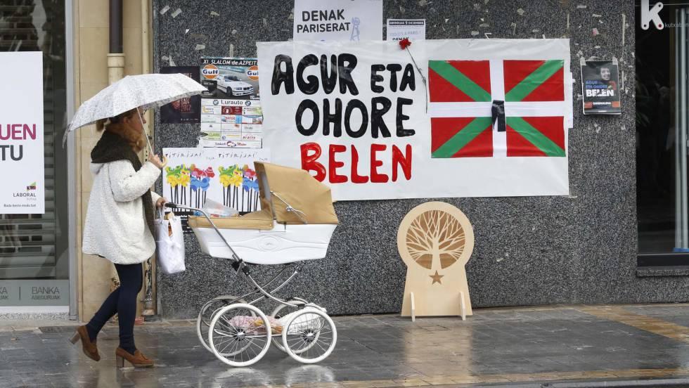 Affichage en hommage de Belen Gonzalez Penalba