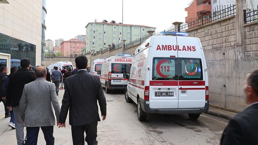 Arrivée des militaires blessés à l'hôpital