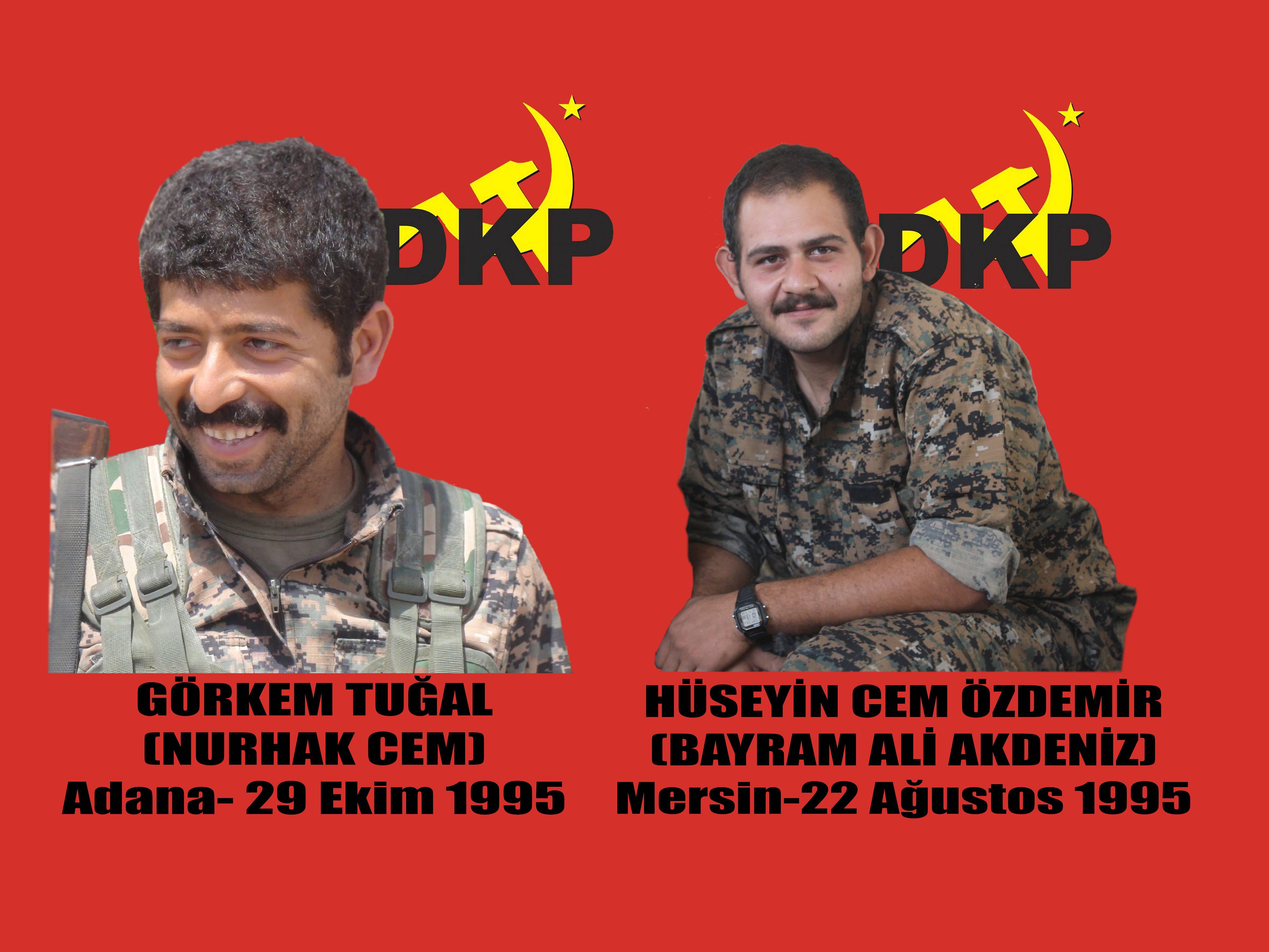 Les combattants du DKP, Hüseyin Cem Özdemir et Görkem Tuğal.