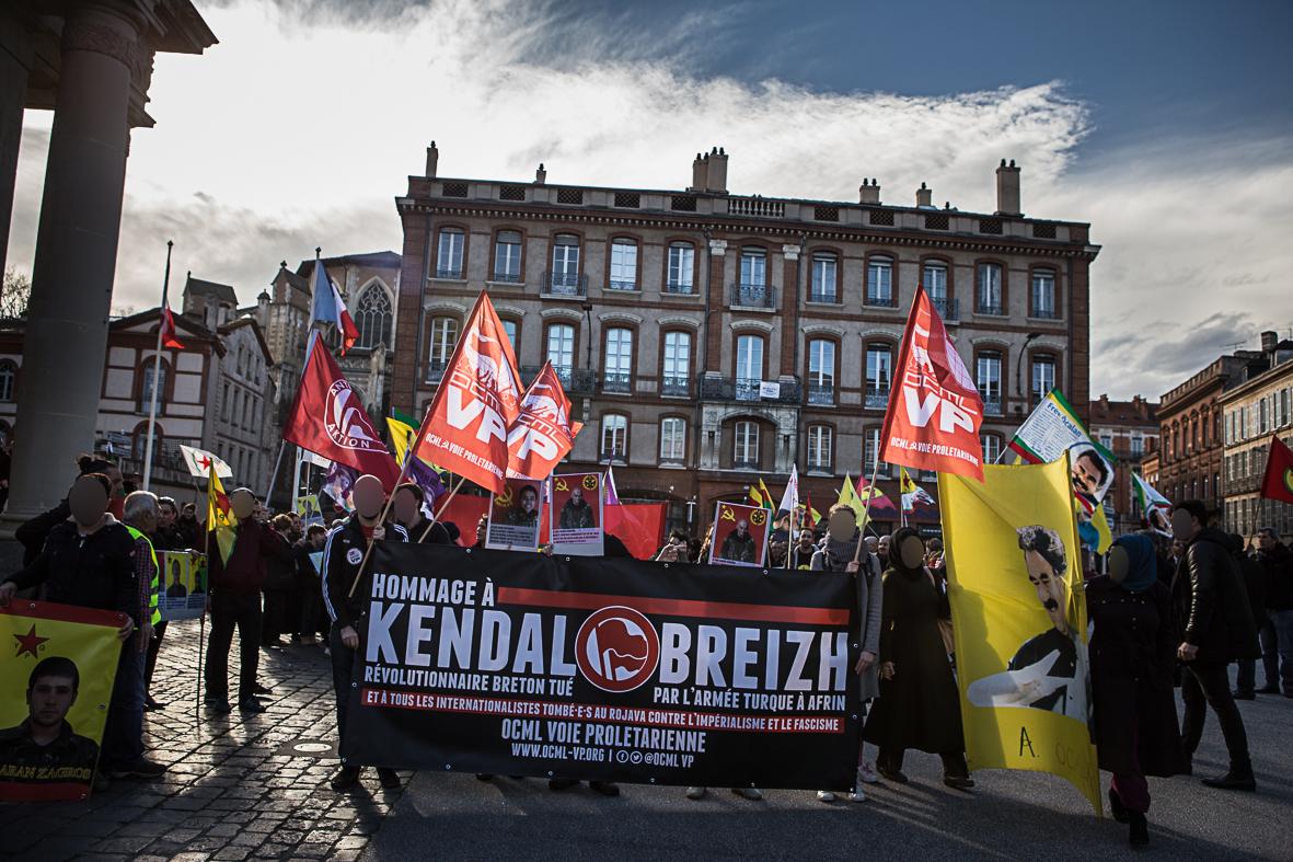 Manifestation d'hommage à Kendal Breizh à Toulouse
