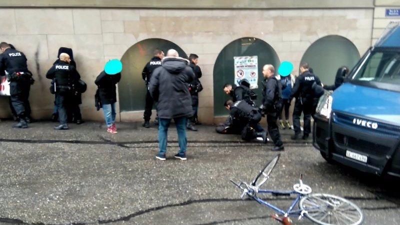Les arrestations à Genève