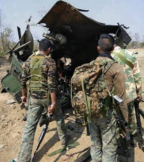 Attaque maoïste contre un véhicule blindé