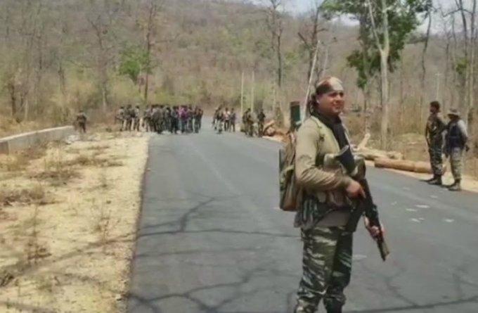 Déploiement de soldats dans le Bijapur