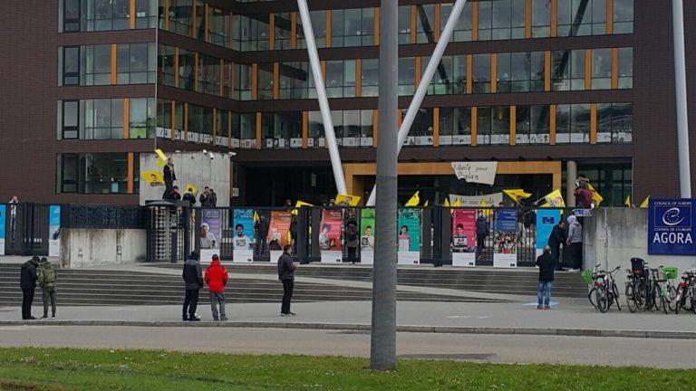 L'occupation de l'Agora à Strasbourg (Archive)