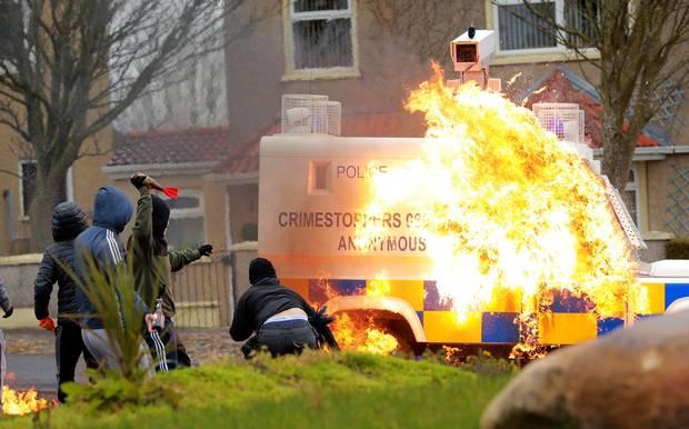 Les affrontements de ce lundi à Derry