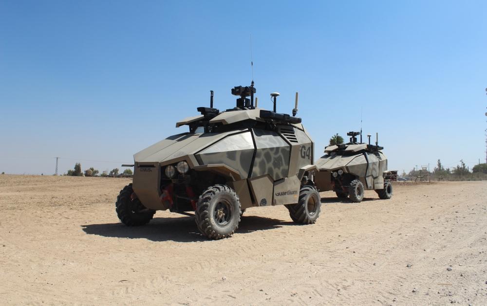 Deux Guardium en service dans l'armée israélienne