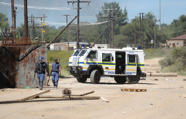Intervention policière à Mahikeng