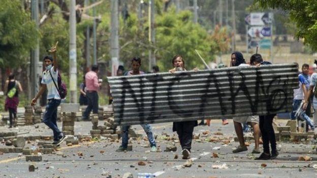 Les affrontements au Nicaragua