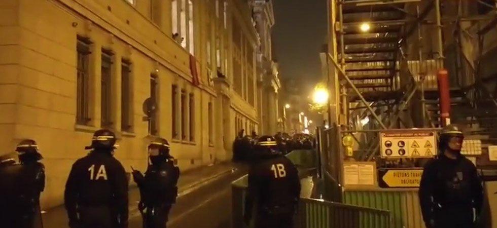 L'opération policière à la Sorbonne