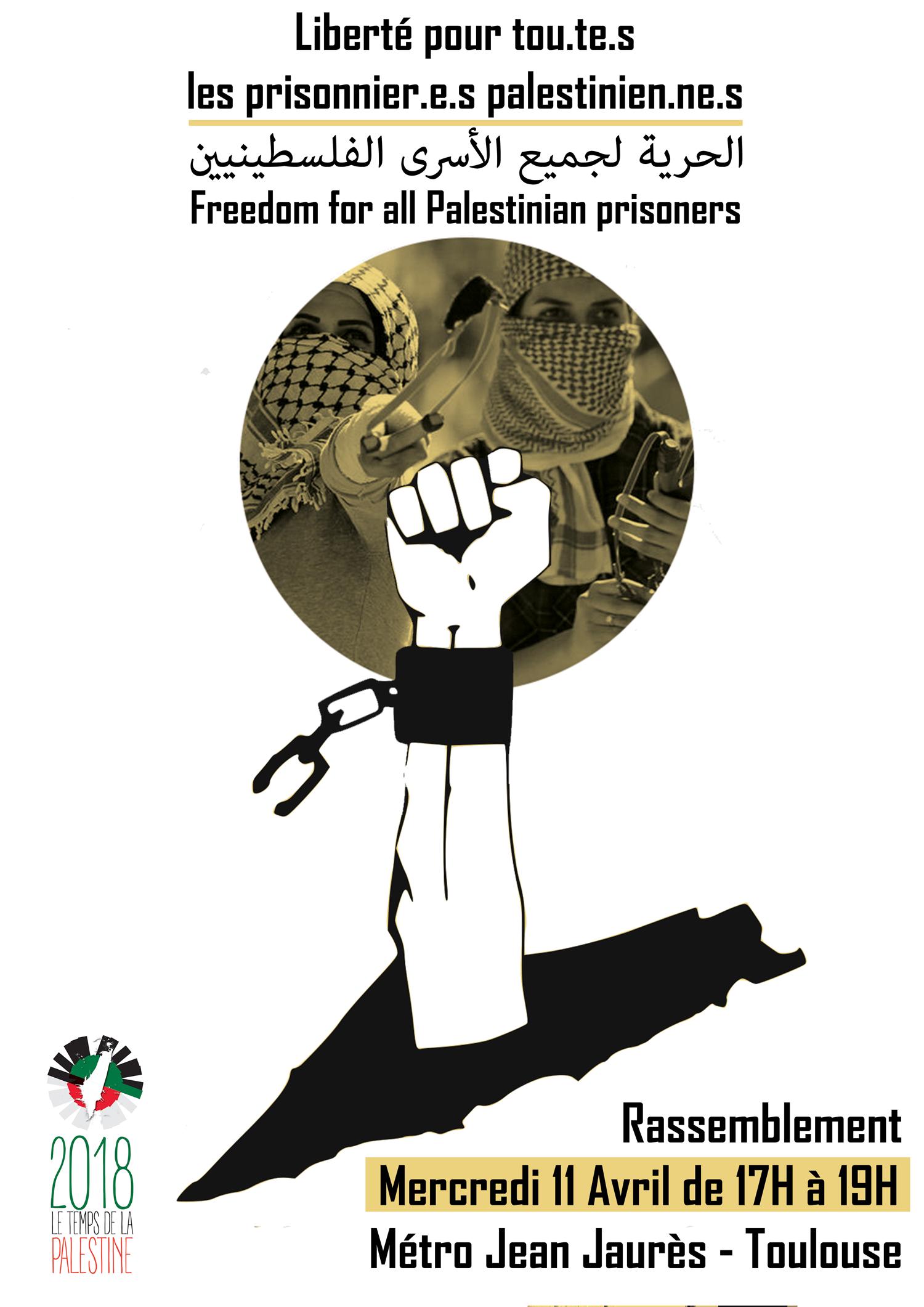 Rassemblement à Toulouse pour les prisonniers palestiniens