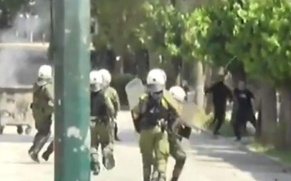 Les affrontements à Athènes (capture d'écran)