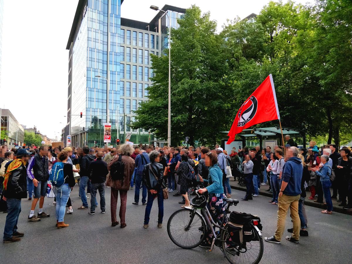 Manifestation en mémoire de Mawda à Bruxelles le 18/5