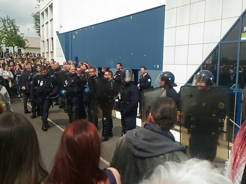 L'intervention policière jeudi à Nancy